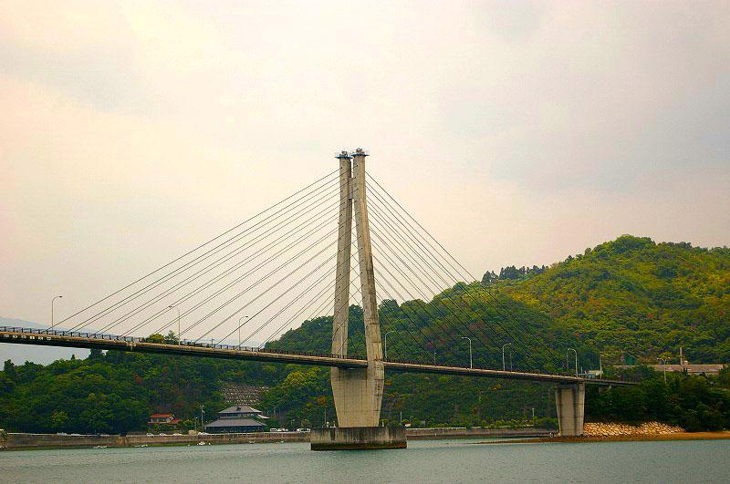 島から見た橋